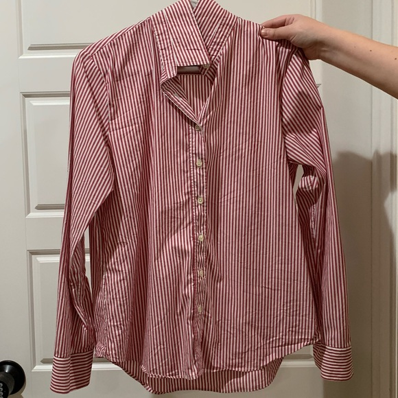 The Shirt by Rochelle Behrens Tops - Size Large Nantucket Red Rochelle Button Down